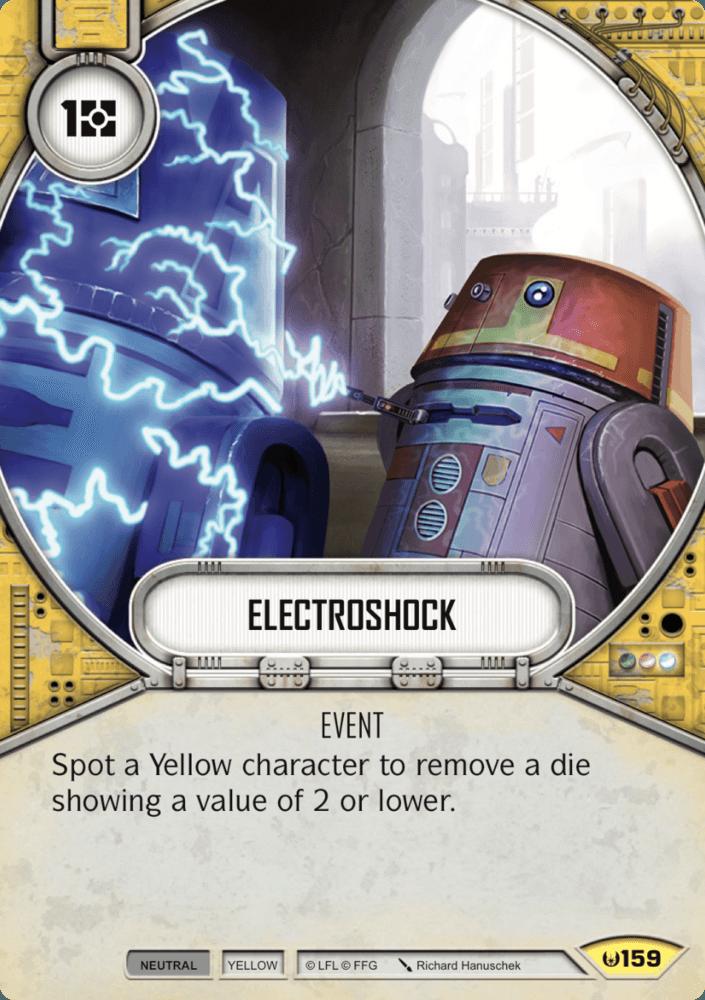 Image result for electroshock star wars destiny