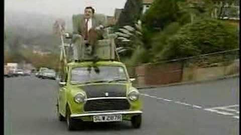 Video Mr Bean Video Mr Bean Driving On Roof Of A Car Star Cars Wiki Fandom Powered By
