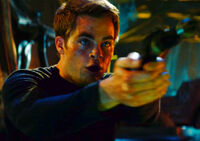 James T. Kirk Chris Pine aboard the Narada