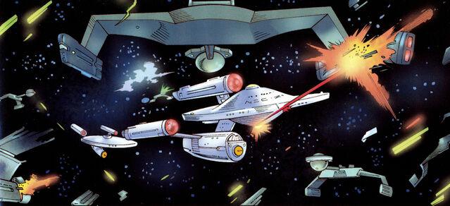 File:USS Federation vs Klingons.jpg