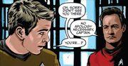 James T. Kirk (alternate reality) meets Q