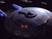 USS Enterprise-D phaser array power up