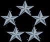 US o-11 rank pin