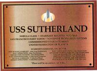 USS Sutherland ded. plaque