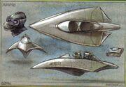 Gorn airship tech IDW Comics
