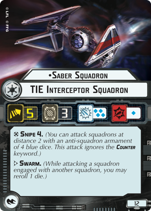 Saber Squadron Tie Interceptor Squadron Star Wars