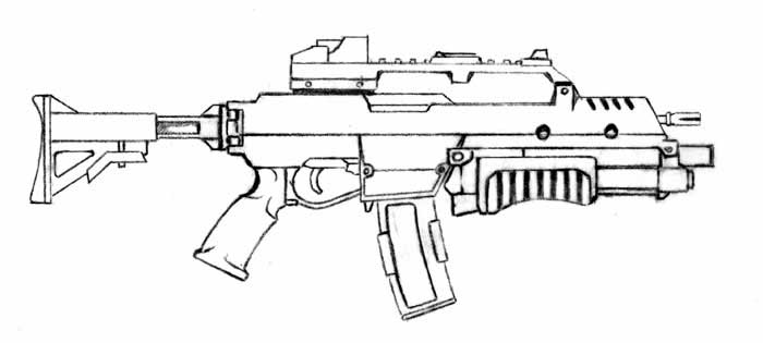 Mandalorian assault carbine star wars exodus visual for Cold war coloring pages