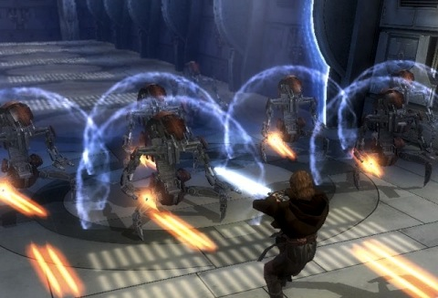 File:Star Wars Revenge of the Sith videogame Droidekas on Grevious Separatist Ship against Anakin.jpg