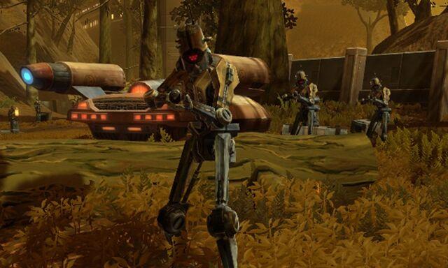 File:Black Death speeder and droids.jpg