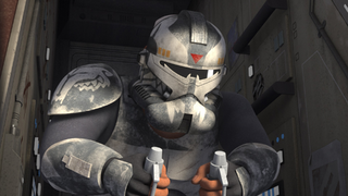 Wolffe commanding AT-TE