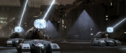 Stun tanks on Coruscant