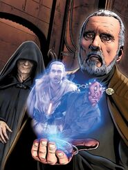 Dooku learns Qui-Gon's death
