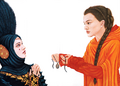 Amidala lends her amulet to Sabe.png