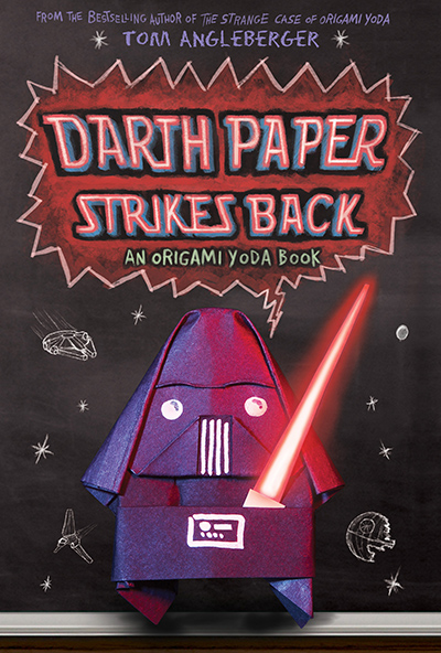 darth paper strikes back Darth paper strikes back is the sequel to the strange case of origami yodadwight, the origami artist who hangs out with origami yoda, has been suspended from school and may be transferred to an alternative school for violent kids.
