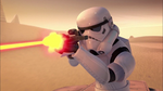 Trooper firing blaster