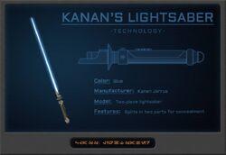 Kanan's lightsaber