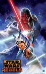 Ahsoka and Vader poster