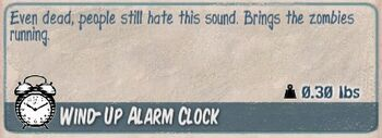 Wind-up alarm clock