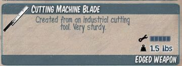 Cutting Machine Blade