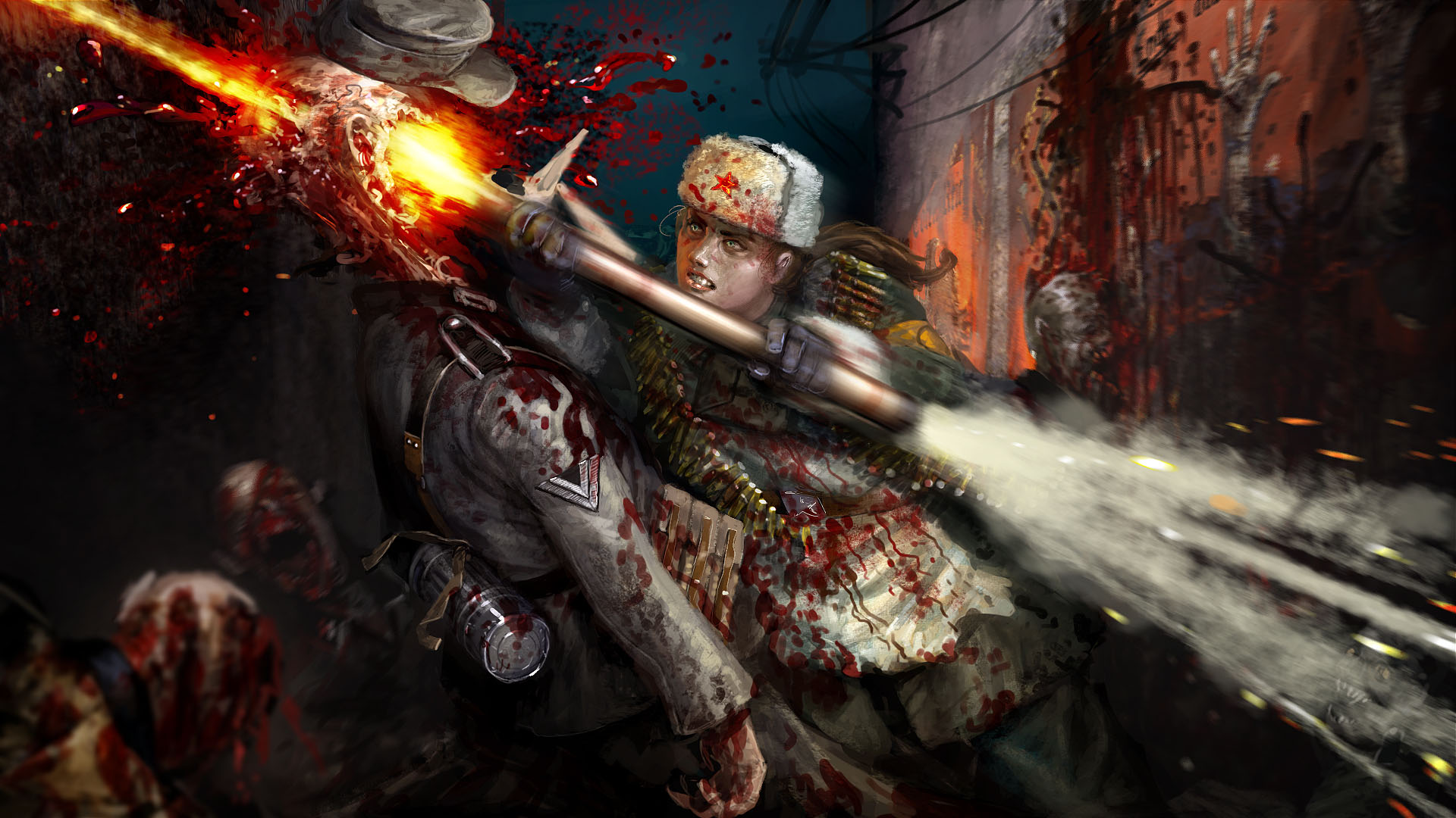 Zombie Artwork Wallpaper Zombie Army Trilogy Artwork 1
