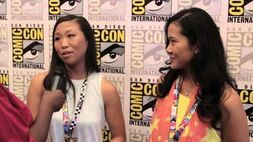 Geeking Out SDCC Steven Universe Interview w Deedee Magno Hall (Pearl) & Michaela Dietz (Amethyst)