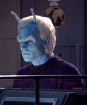Andorian helmsman on ISS Avenger