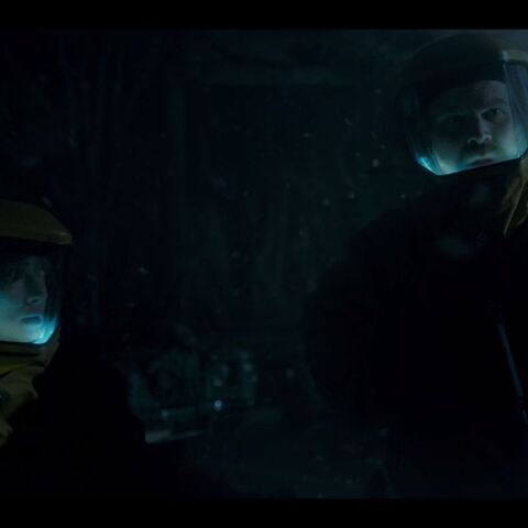 Hopper and Joyce in the Upside Down.