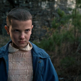 Eleven saving Mike and Dustin from the bullies.