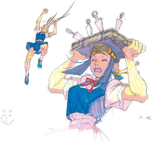 File:Sarai Ibuki kunai scene SFIII concept art.jpg