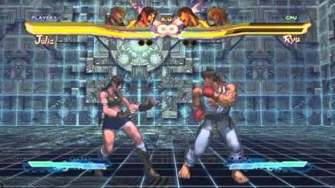 Julia's Super Art and Cross Assault in Street Fighter X Tekken