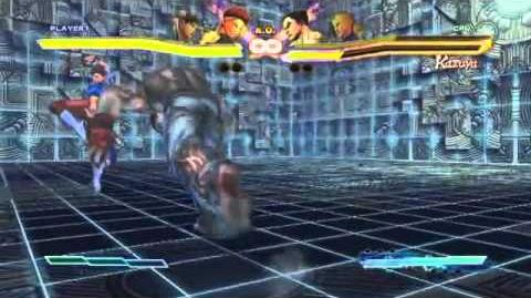 Cammy's Super Art and Cross Assault in Street Fighter X Tekken