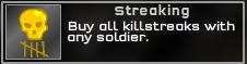 Streaking Medal
