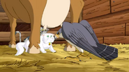 Stuart Little The Animated Series Falcon About to Kill Snowbell and Monty