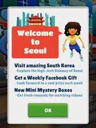 Mina welcoming players to Seou