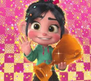 Vanellope with her medal