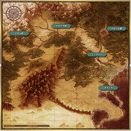 Genso Suikoden The Woven Web of a Century World Map