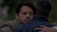Cas and Dean hug, Alpha and Omega