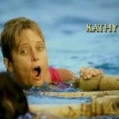 Kathy's motion shot in the opening of <i>Survivor: All-Stars</i>.