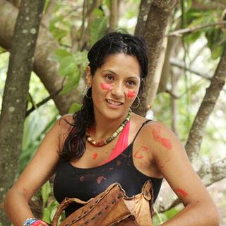 Cecilia at the Aitu camp.