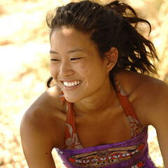 Michelle on the merged tribe, <a href=