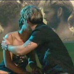 Jonny hugs Susannah after being announced as the winner.