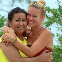 Abi-Maria with her mother Vera.