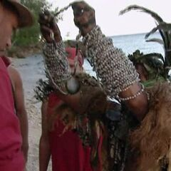 Sarge is given an Necklace from Ni-Vanuatu men.