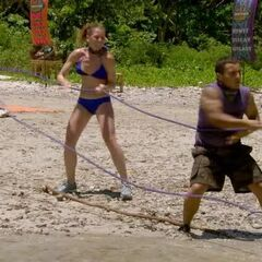 Brandon and Corinne pull the line for the favorites.