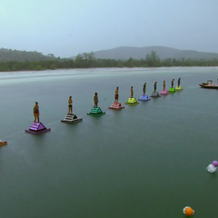 Orkun competing in the final eleven Immunity Challenge, <i><a href=