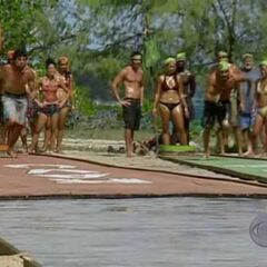 The castaways prepare for the challenge in <i><a href=