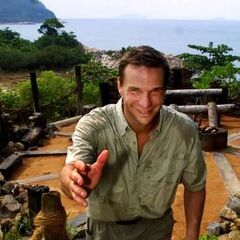 Host Anders in front of the Tribal Council area