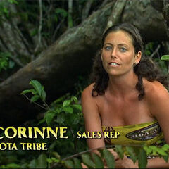 Corinne doing a confessional.