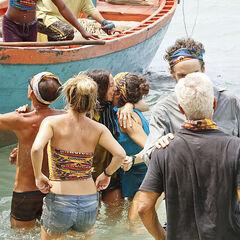 Gondol welcomes Chan Loh onto their beach.