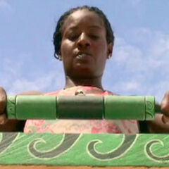 Cirie competing in the Final Immunity Challenge.